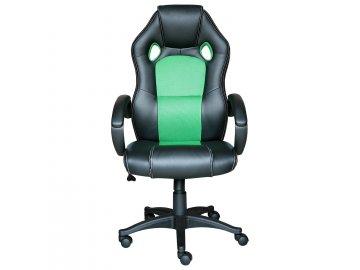 Kancelárske kreslo FORMULA čierna / zelená