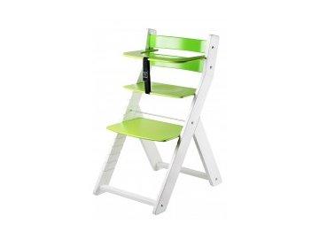 LUCA KOMBI stolová stolička L02 biela / zelená s ergonomickým sedením