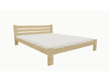 Drevená posteľ KV002 90x200 borovica masív lakovaná