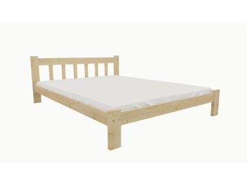Drevená posteľ KV013 90x200 borovica masív lakovaná