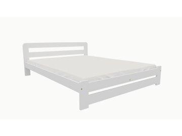 Drevená posteľ KV010 90x200 borovica masív BIELA