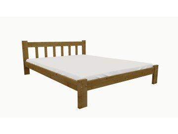 Drevená posteľ KV013 90x200 borovica masív - DUB