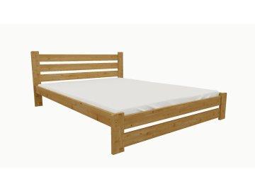 Drevená posteľ KV008 90x200 borovica masív - JELŠA