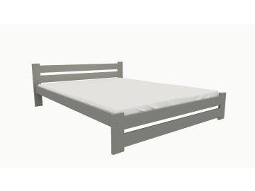Drevená posteľ KV007 90x200 borovica masív - SIVÁ