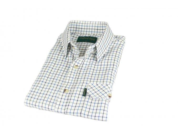 SH1 Tattersal mens check shirt BLUE 1800x1200