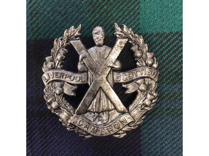 Odznak na glengarry Liverpool Scottish