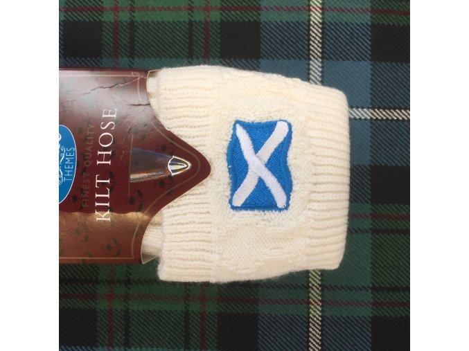 Podkolenky s výšivkou – skotská vlajka