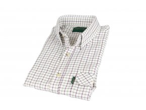 SH1 Tattersal mens check shirt RED 1800x1200