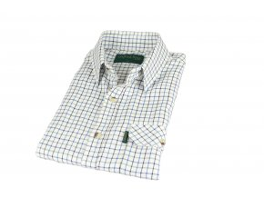 SH1 Tattersal mens check shirt BLUE 1800x1200