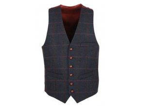W225 Balmoral mens tweed waistcoat NAVY 250x