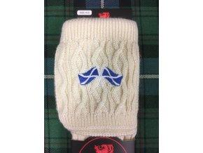 Podkolenky Harris s výšivkou – skotské vlajky