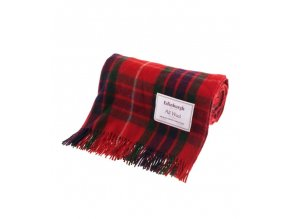 vlnena deka fraser red tartan