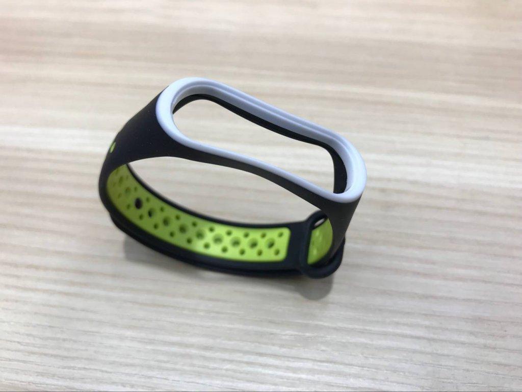 Xiaomi MiBand  3 / MiBand 4  sportovní  náhradní náramek | Black/Green