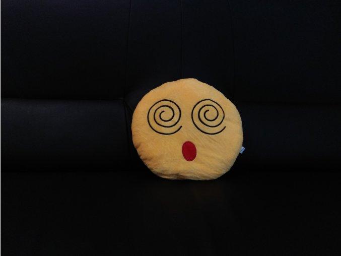 KG polštářek smajlík Vystrašenec, průměr 32 cm