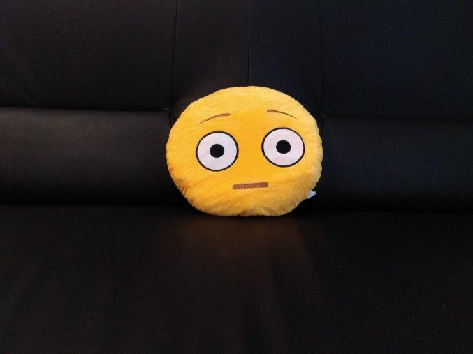KG polštářek smajlík Bručoun, průměr 32 cm