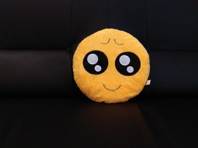 KG polštářek smajlík Usměváček, průměr 32 cm