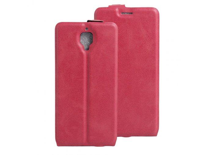 KG flipové pouzdro pro OnePlus 3 (5002) Rose red