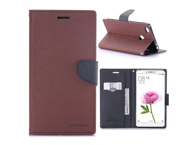 KG pouzdro Wallet Style pro Xiaomi Mi Max (5001) Brown