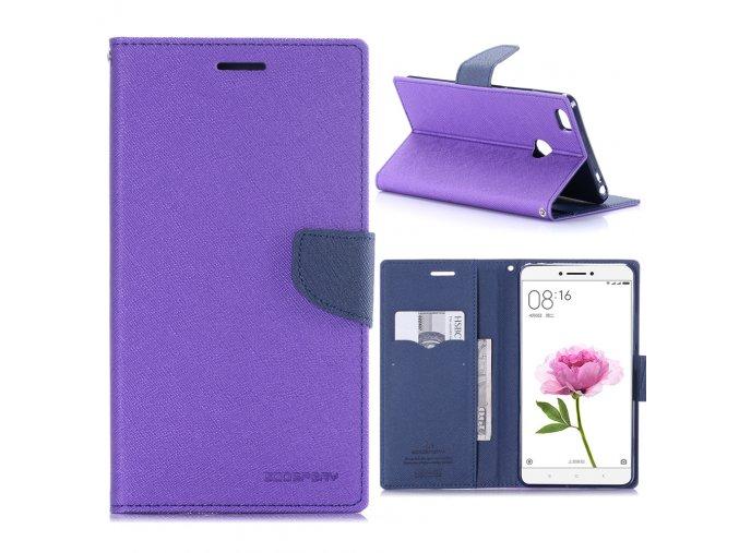 KG pouzdro Wallet Style pro Xiaomi Mi Max (5001) Purple