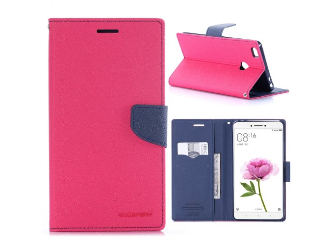 KG pouzdro Wallet Style pro Xiaomi Mi Max (5001) Rose red