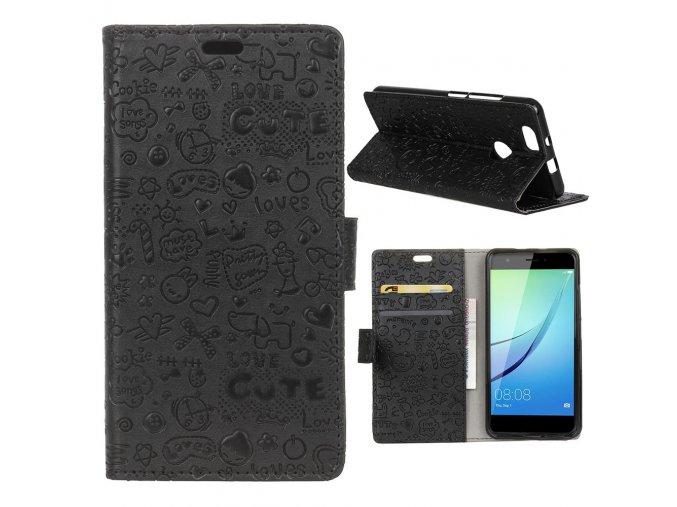 KG pouzdro Wallet Style Huawei Nova (5007) Black
