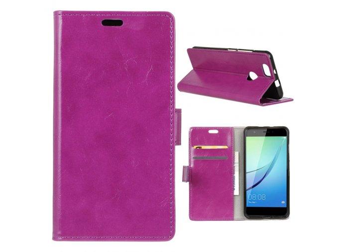 KG pouzdro Wallet Style Huawei Nova (5006) Rose Red
