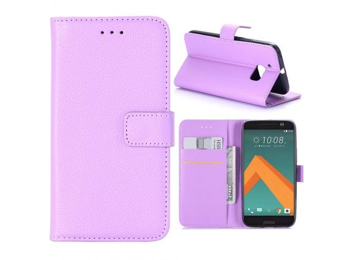 KG pouzdro Wallet Style HTC 10 (5008) Purple