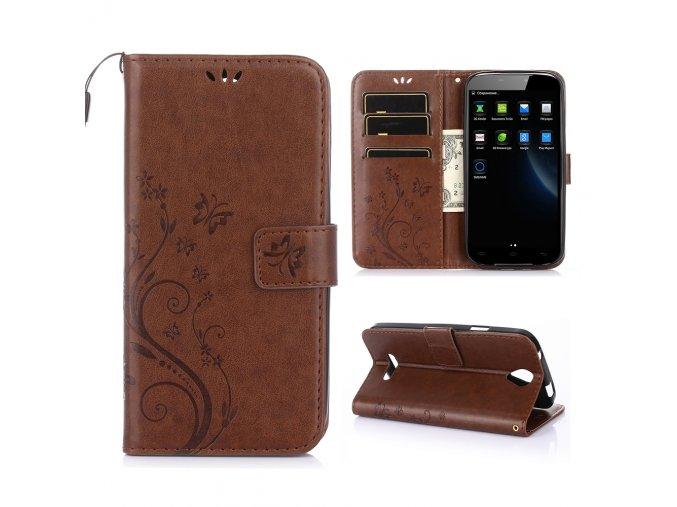 KG pouzdro Wallet Style Doogee X6 (5002) Brown