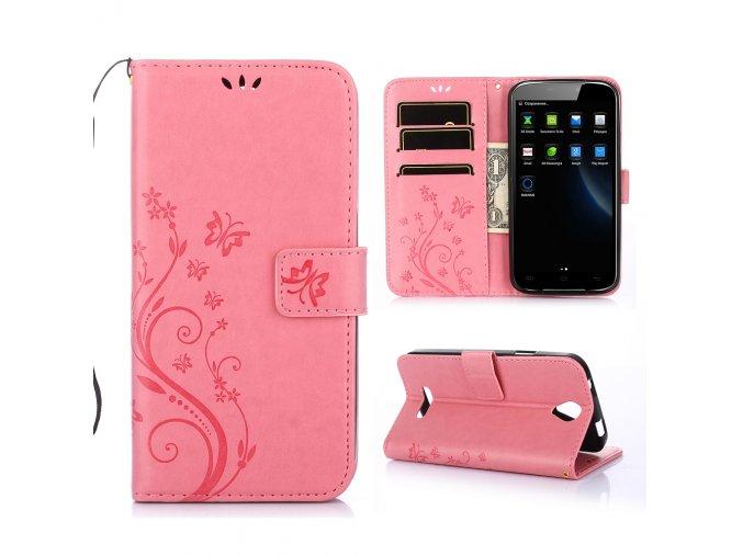 KG pouzdro Wallet Style Doogee X6 (5002) Pink