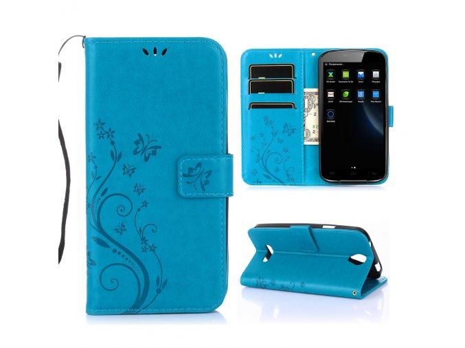 KG pouzdro Wallet Style Doogee X6 (5002) Blue