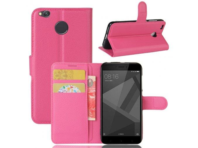 Flipové pouzdro pro Xiaomi Redmi 4X | WALLET | Dark Pink