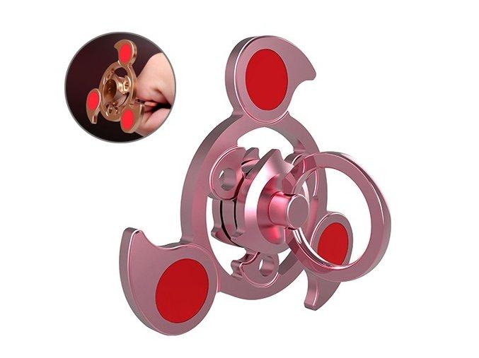 KG Fidget Hand Spinner Sky Ring Rose Gold