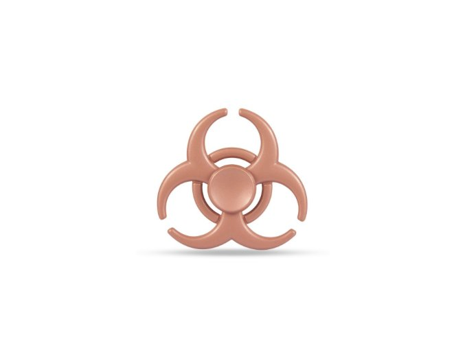 KG Fidget Hand Spinner Biohazard Rose Gold