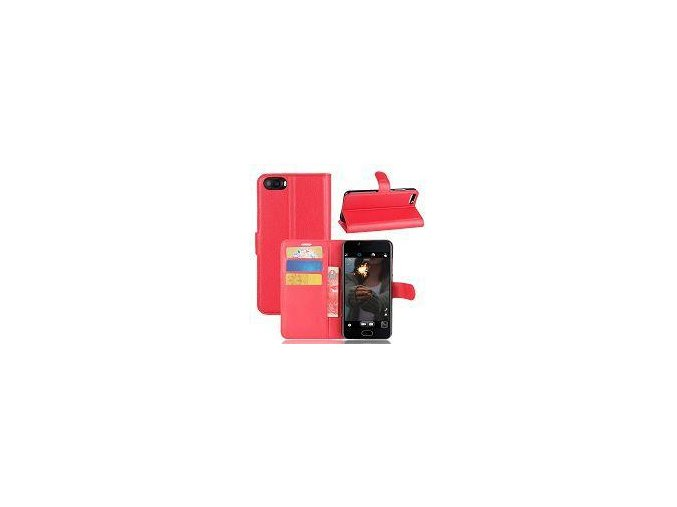 KG pouzdro Wallet Style Doogee X5 Max / X5 Max Pro (20170609) Red