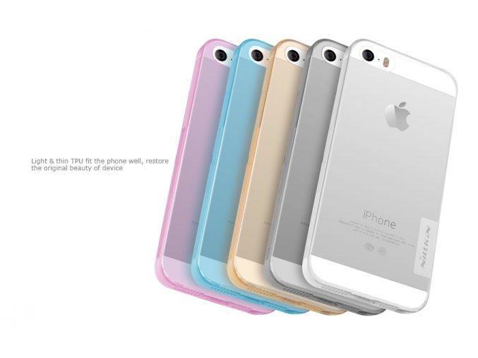 Silikonové pouzdro Nillkin Nature Apple iPhone 5S/SE White