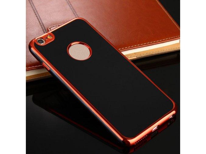 Silikonové pouzdro pro Apple iPhone 6/6s | Black + Rose Gold
