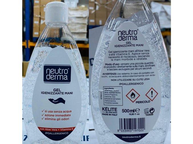 Dezinfekční čistící gel na ruce - 500ml