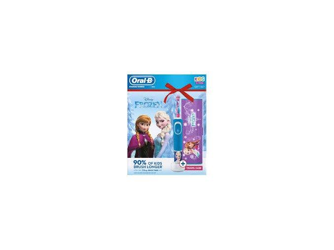 Oral-B Vitality KIDS Frozen dětský elektrický kartáček s cestovním pouzdrem