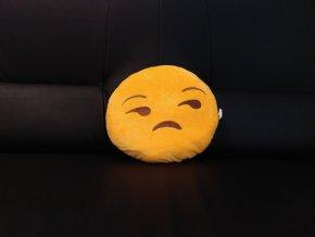 KG polštářek smajlík Pochybovač, průměr 32 cm