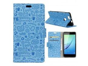 KG pouzdro Wallet Style Huawei Nova (5007) Blue