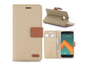 KG pouzdro Wallet Style HTC 10 (5009) Khaki