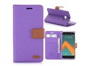 KG pouzdro Wallet Style HTC 10 (5009) Purple