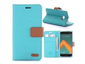 KG pouzdro Wallet Style HTC 10 (5009) Mint Green