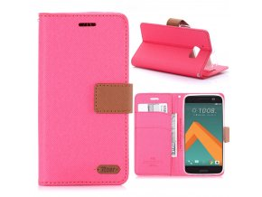 KG pouzdro Wallet Style HTC 10 (5009) Rose Red