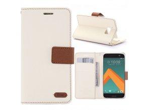 KG pouzdro Wallet Style HTC 10 (5009) White
