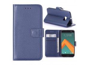 KG pouzdro Wallet Style HTC 10 (5008) Dark Blue