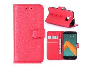 KG pouzdro Wallet Style HTC 10 (5008) Red