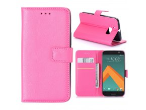 KG pouzdro Wallet Style HTC 10 (5008) Rose Red