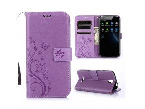 KG pouzdro Wallet Style Doogee X6 (5002) Light Purple