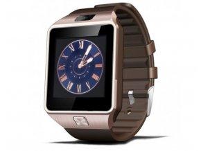 Erenbach Smartwatch DZ09 rose gold  + ochranná fólie ZDARMA